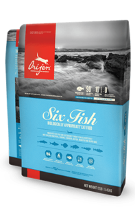 ORIJEN Six Fish Biologically Appropriate Cat Food Bag