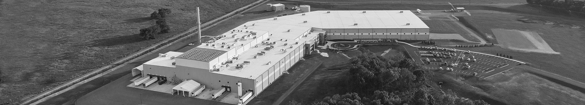 Aerial photography of Dogstar Kitchens - Award-winning DogStar Kitchens, Auburn, Kentucky